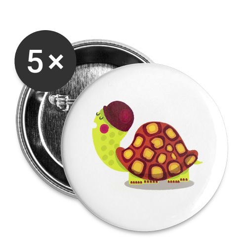 TORTUE - Lot de 5 grands badges (56 mm)