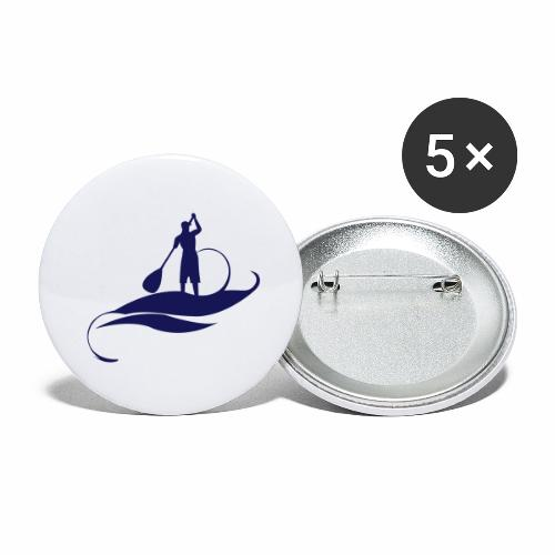 Paddle man casquette - Lot de 5 grands badges (56 mm)