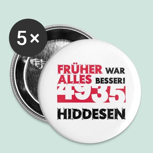 Früher 4935 Hiddesen - Buttons groß 56 mm (5er Pack)