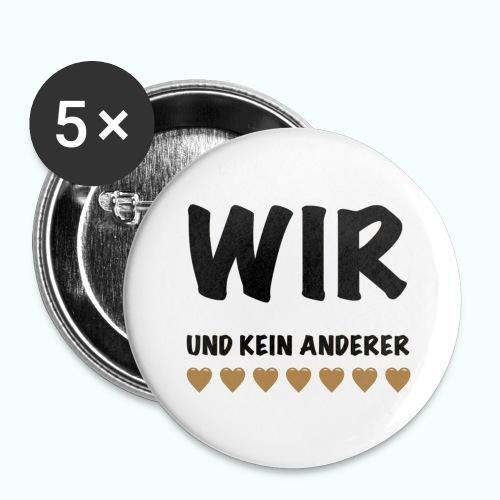 WIR - Buttons groß 56 mm (5er Pack)