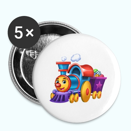 Arthur Little Train Collection - Buttons large 2.2''/56 mm(5-pack)