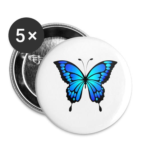 Mariposa - Paquete de 5 chapas grandes (56 mm)