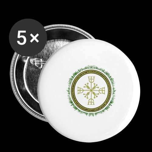 Norse Runes with Aegishjalmur 2017 - Buttons large 2.2''/56 mm(5-pack)