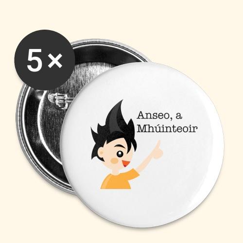 anseo, a mhúinteoir - Buttons large 2.2''/56 mm(5-pack)