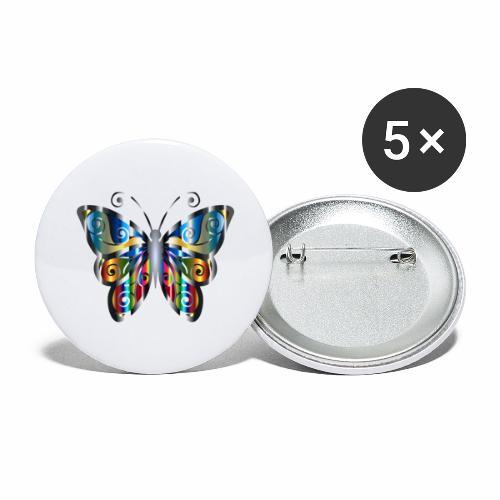 butterfly - Przypinka duża 56 mm (pakiet 5 szt.)
