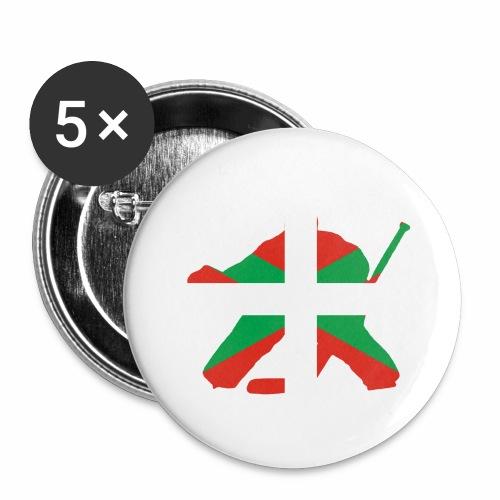 goalie et basque - Lot de 5 grands badges (56 mm)