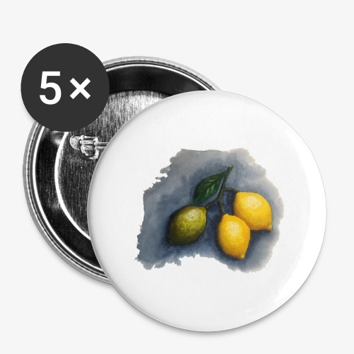 lemons - Buttons large 2.2''/56 mm (5-pack)