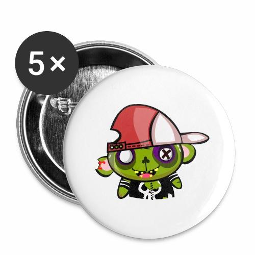zombie hiphop - Paquete de 5 chapas grandes (56 mm)