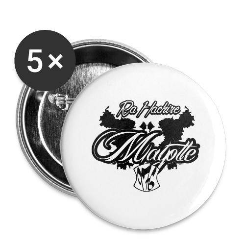 RA HACHIRI - Lot de 5 grands badges (56 mm)