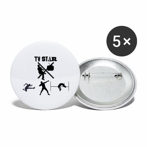 TV Star - Buttons groß 56 mm (5er Pack)