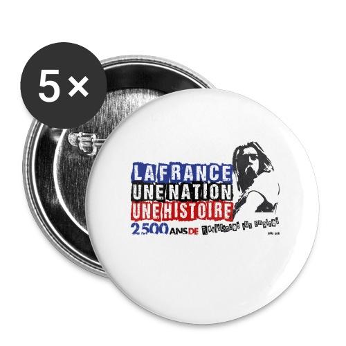 Vercingétorix - Lot de 5 grands badges (56 mm)