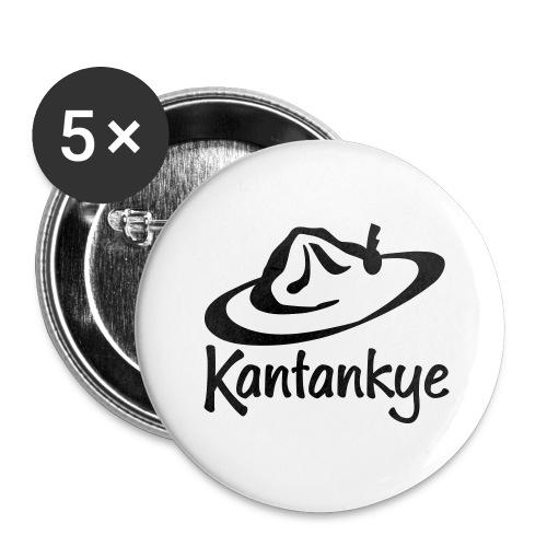 logo hoed naam - Buttons groot 56 mm (5-pack)