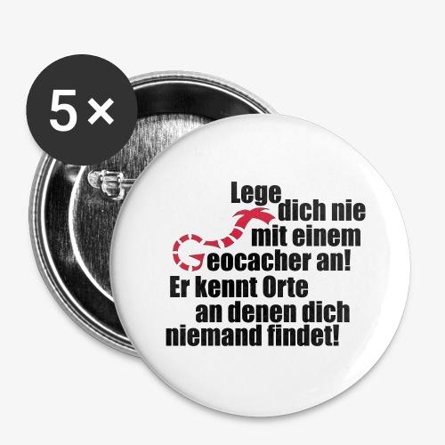 Leg' dich nicht mit uns an! - Buttons groß 56 mm (5er Pack)