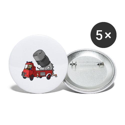 Wasserwerfer - Buttons groß 56 mm (5er Pack)