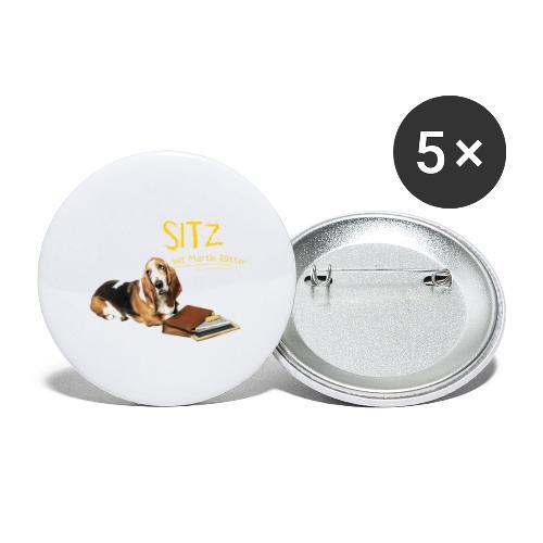NEU: Nachsitzen - Buttons groß 56 mm (5er Pack)