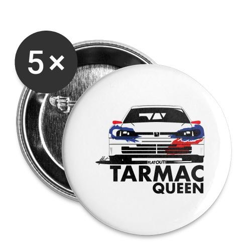Tarmac Queen 306 Maxi Rally - Lot de 5 grands badges (56 mm)