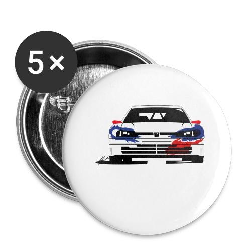 306 Maxi Rallye Tarmac Queen - Lot de 5 grands badges (56 mm)