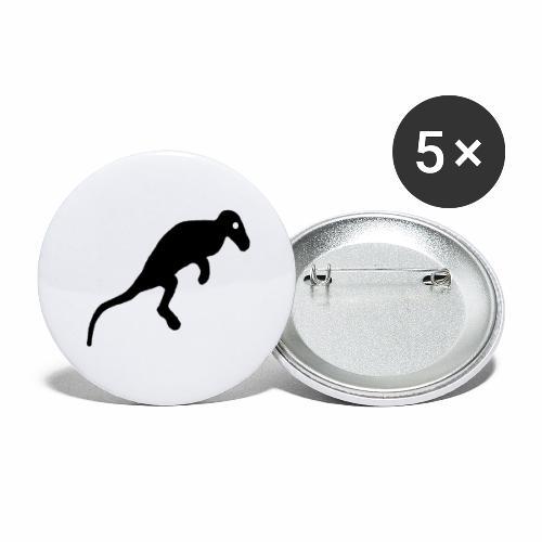 Dinosaurier Jurasic Jumping - Buttons groß 56 mm (5er Pack)