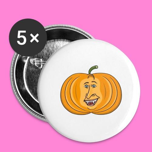 Rick pumpkin - Buttons groot 56 mm (5-pack)