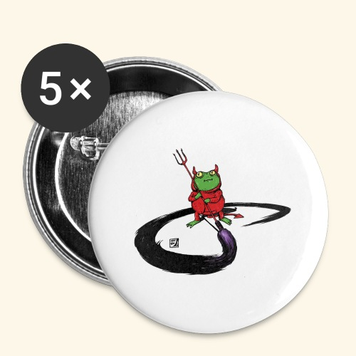 Don't paint the Devil On Ze Wall - Buttons groß 56 mm (5er Pack)
