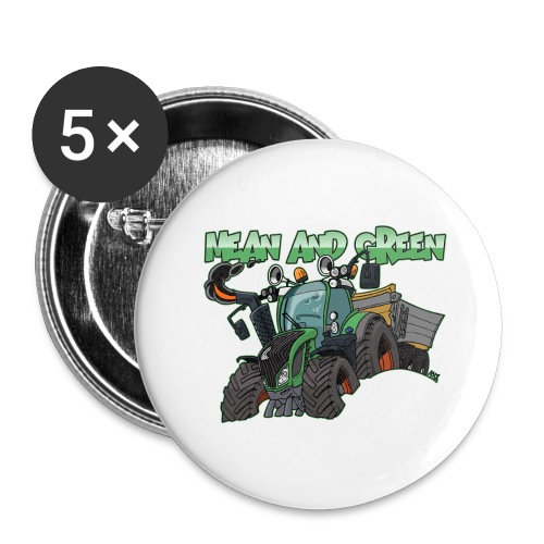 F 718Vario mean and green - Buttons groot 56 mm (5-pack)