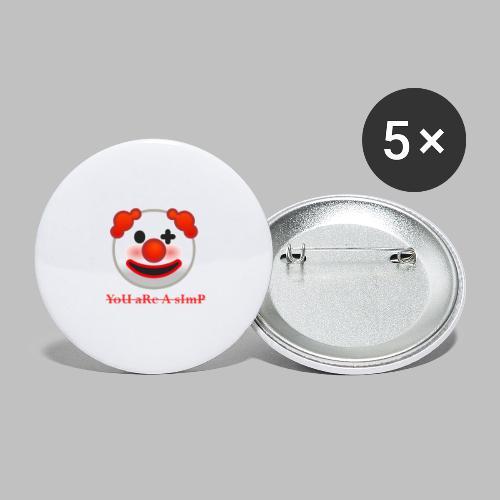 Clown Emoji - Buttons groot 56 mm (5-pack)