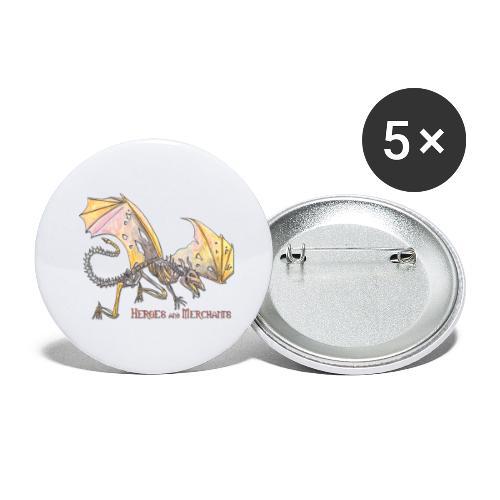 Bonedragon - Buttons groß 56 mm (5er Pack)