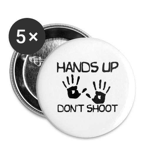 Hands Up Don't Shoot (Black Lives Matter) - Buttons groot 56 mm (5-pack)
