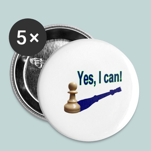 Yes, I can! 1 - Buttons groß 56 mm (5er Pack)