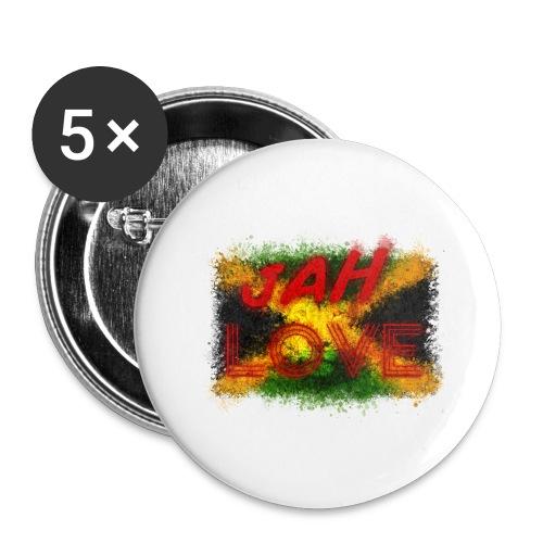 jah love - Lot de 5 grands badges (56 mm)