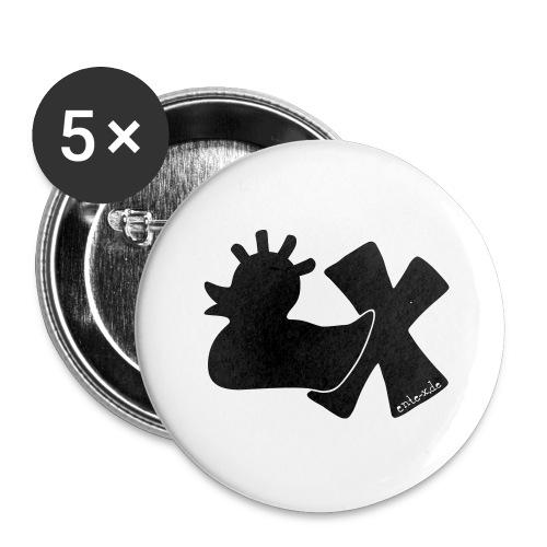 PunkEnte mit X v3.3 - Buttons groß 56 mm (5er Pack)