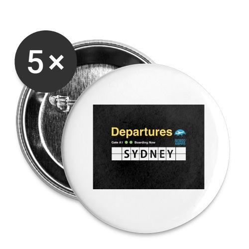 SYDNEY png - Confezione da 5 spille grandi (56 mm)