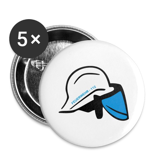 Feuerwehr Helm - Buttons groß 56 mm (5er Pack)