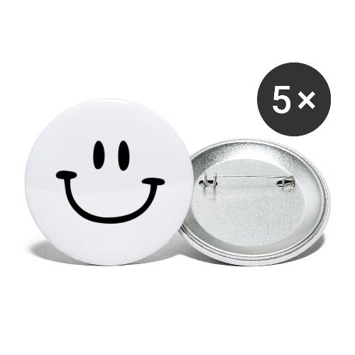 ptb smiley face - Buttons large 2.2''/56 mm(5-pack)