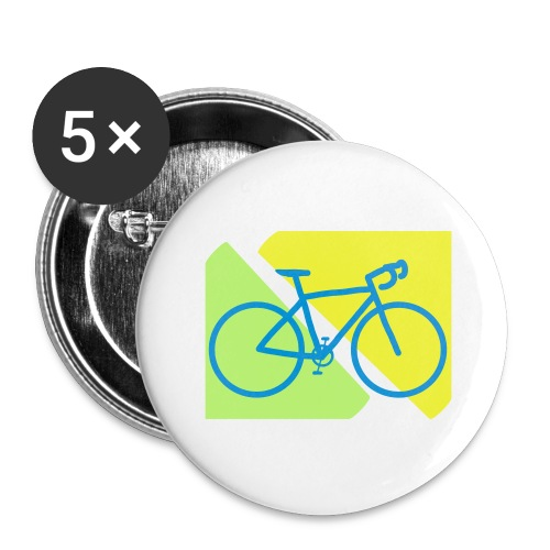 Racefiets - Buttons groot 56 mm (5-pack)