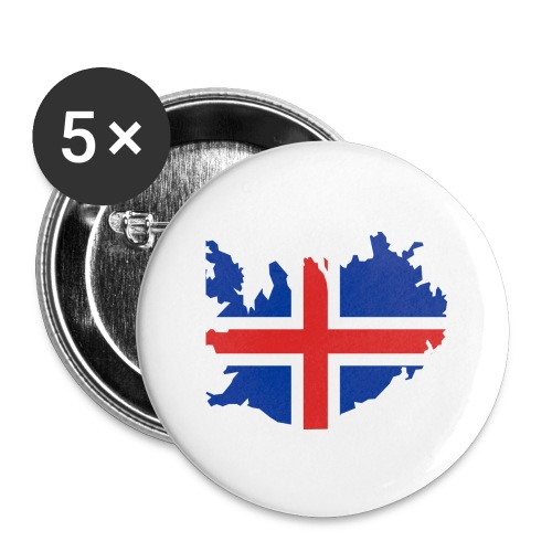 Iceland - Buttons groot 56 mm (5-pack)