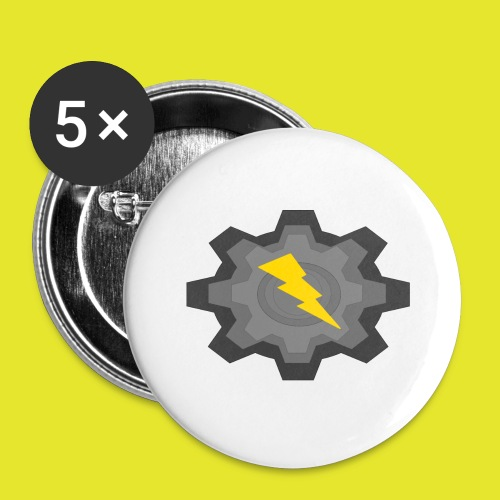 kugg - Stora knappar 56 mm (5-pack)