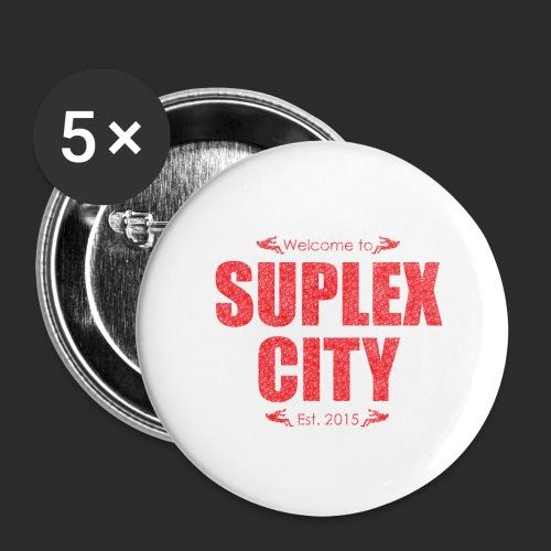 Suplex City Mens T-Shirt - Buttons large 2.2''/56 mm(5-pack)