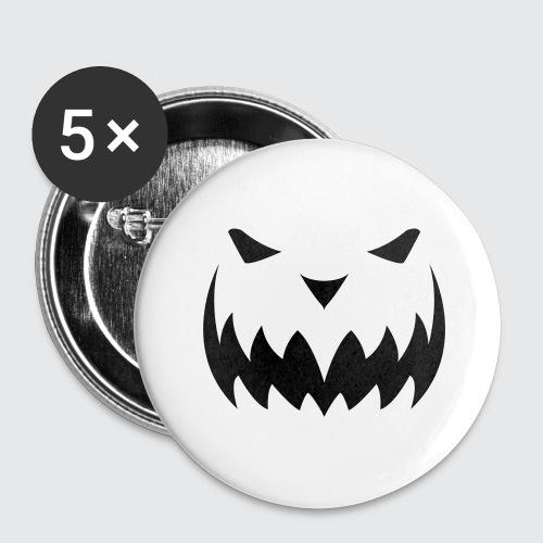 Halloween 2 - Buttons groß 56 mm (5er Pack)
