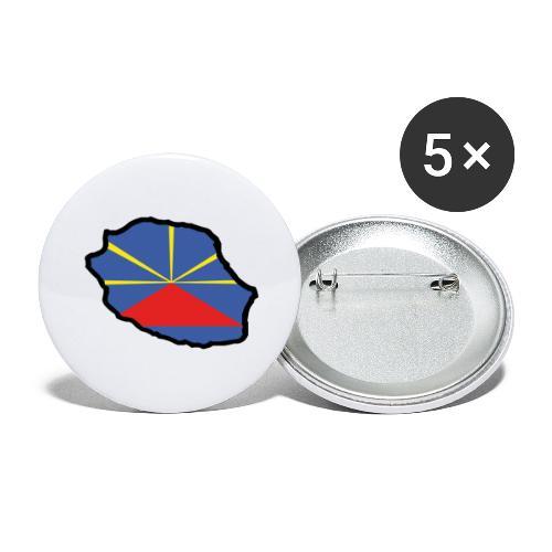 974 - Drapeau Lo Mahaveli - Lot de 5 grands badges (56 mm)