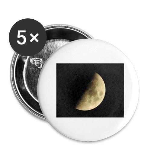 LUNA_3840X3072 - Confezione da 5 spille grandi (56 mm)