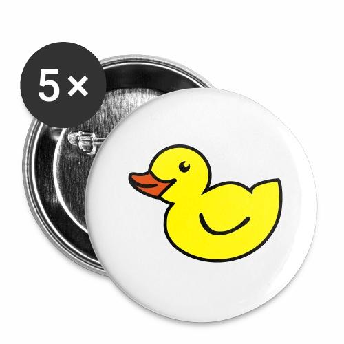 Ente - Buttons groß 56 mm (5er Pack)