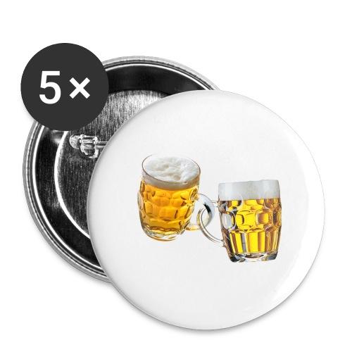 Boccali di birra - Confezione da 5 spille grandi (56 mm)