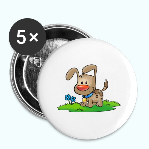 doggy 01 - Buttons large 2.2''/56 mm(5-pack)