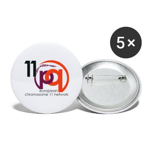 11q_logo_century - Buttons groß 56 mm (5er Pack)