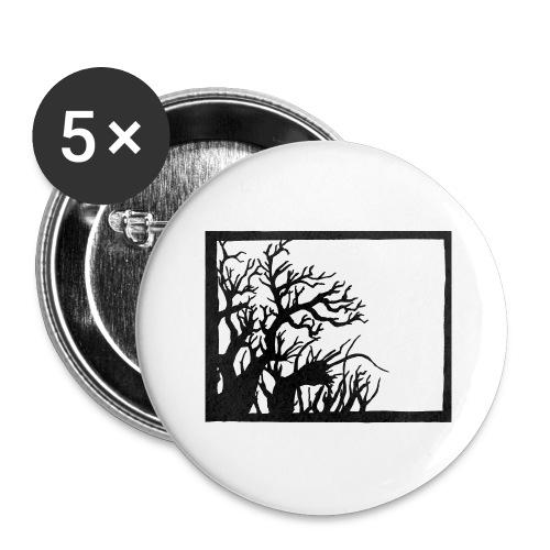 Winterknick - Buttons groß 56 mm (5er Pack)