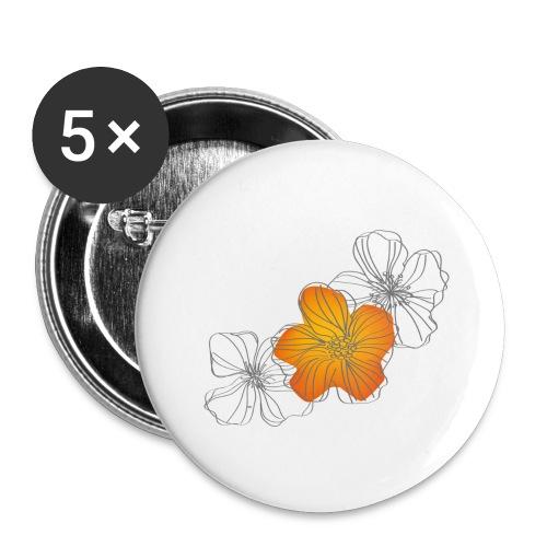 Flowers - Paquete de 5 chapas grandes (56 mm)
