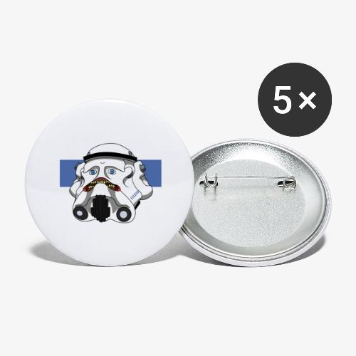 The Look of Concern - Buttons large 2.2''/56 mm(5-pack)