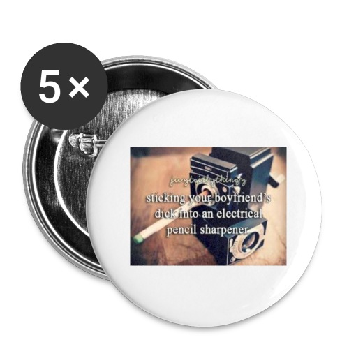 45492e8dfe105cfa0a4a7d1596676fb3 justgirlythings - Buttons/Badges stor, 56 mm (5-pack)