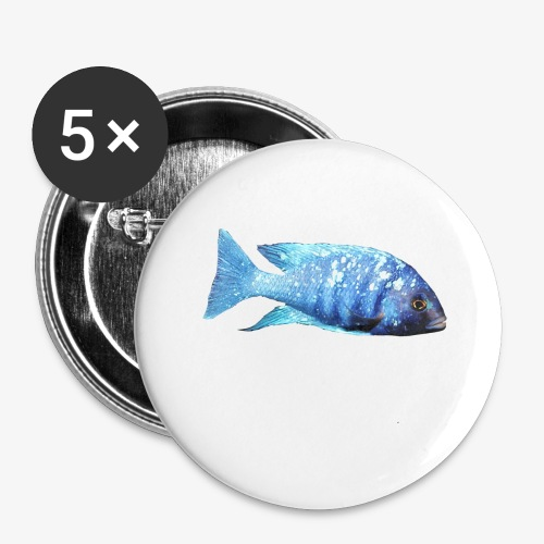 MIXED AFRICAN CICHLIDS - Buttons large 2.2''/56 mm(5-pack)